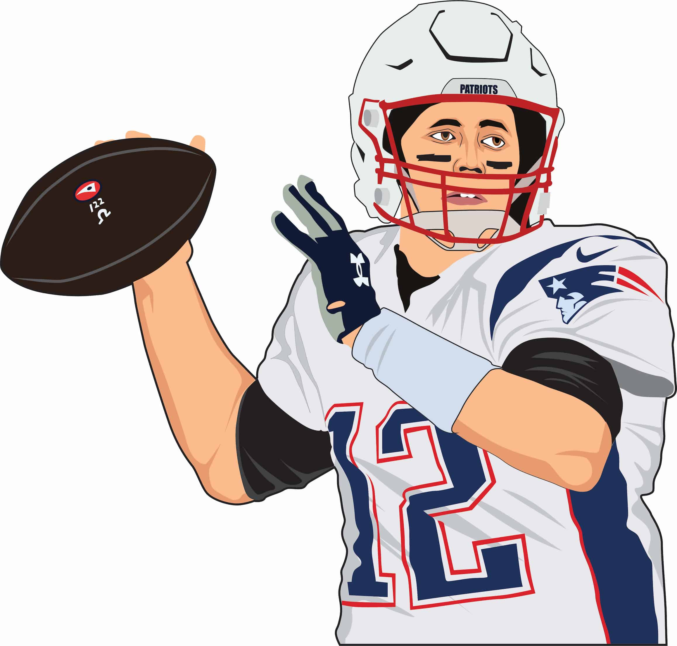 Tom Brady Patriots Cartoon