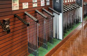Golf Clubs in Shop