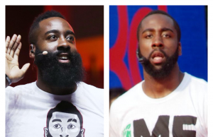 James Harden Beard, No Beard