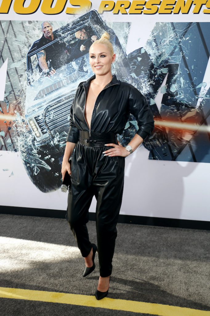 Athlete Lindsey Vonn at the World premiere of 'Fast & Furious Presents: Hobbs & Shaw' held at the Dolby Theatre in Hollywood, USA on July 13, 2019