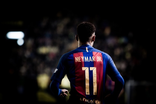 VILLARREAL, SPAIN - JANUARY 8: Neymar during La Liga soccer match between Villarreal CF and FC Barcelona at Estadio de la Ceramica on January 8, 2016 in Villarreal, Spain