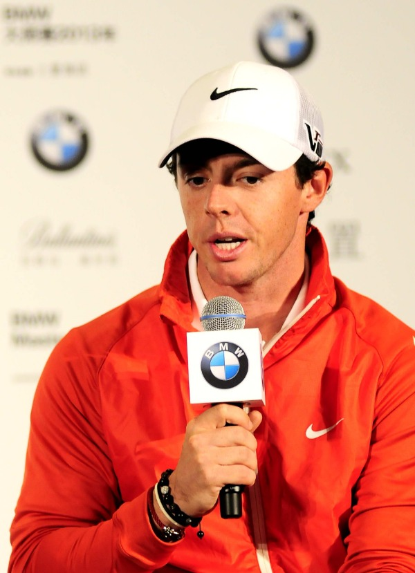 Golfer Rory McIlroy of Northern Ireland speaks during a press conference ahead of the Masters Golf tournament in Shanghai, China, 22 October 2013.